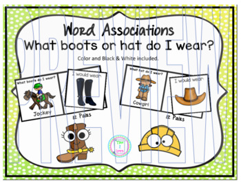Word Associations:  What boots or hat do I wear?