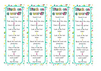Word Attack Bookmarks