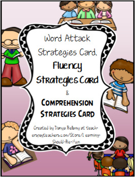 Word Attack, Comprehension & Fluency Strategies Cards