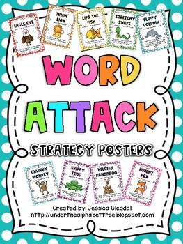 Polka Dot Word Attack Posters