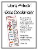 Word Attack Skills Bookmark