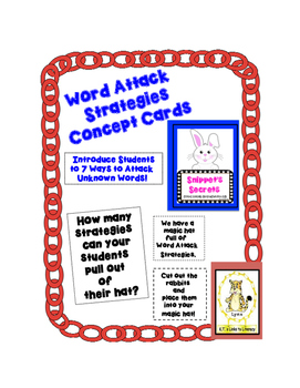 Word Attack Strategies Concept Cards