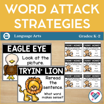 Word Attack Strategies Posters, Cards, and Bookmarks