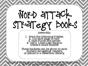 Word Attack Strategy Books by The Kreative Teacher | Teachers Pay ...