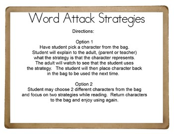Word Attack Strategy Cards