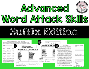 Word Attack: Suffix Edition