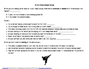 Word Attack Survey