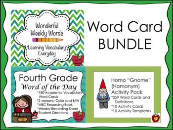 Word BUNDLE {Homonym, Word of the Day, and Wonderful Weekl