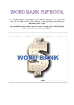 Word Bank Flip Book - Colored version
