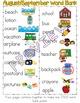 Word Bank Poster:  August/September Seasonal Words to Supplement Word Walls