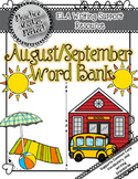 Word Bank Poster:  August/September Seasonal Words to Supp