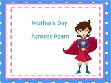 Word Bank for Mother's Day Acrostic Poem with Rough Draft