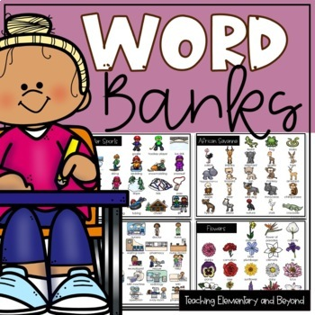 Classroom Word Bank for Primary Students: 58 Topics Included!