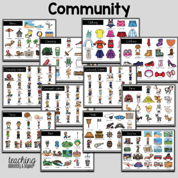 Primary Classroom Word Bank for Writing Prompts: 58 Topics Included! #thankful4u