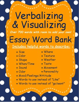 Word Bank for Visualizing Structure Words