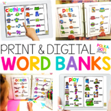Word Banks for Print & Digital | PowerPoint & Google (TM)