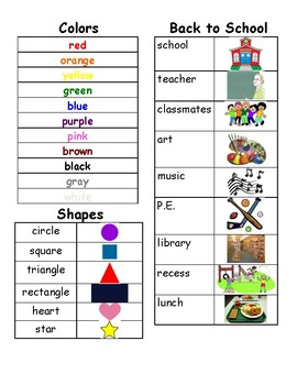 Word Banks for Writing Centers