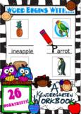 Word Begins With... Spelling Workbook for Kindergarten. Us