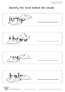 Word Behind Clouds (Pre-K)
