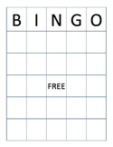 Word Bingo Board