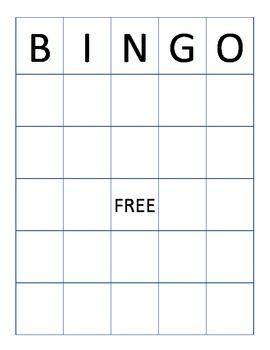 Word Bingo Board