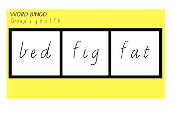Word Bingo Jolly phonics group 3