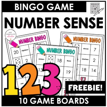 Word Bingo Numbers 1-20