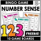 Bingo Game Numbers 1-20 (Word form)