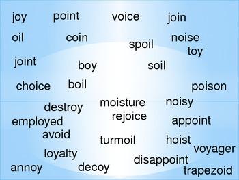 Word Bingo- Oi & Oy words