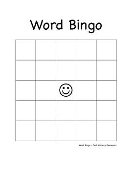 Word bingo template elementary intermediate by jens literacy word bingo template elementary intermediate maxwellsz