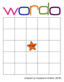 Word bingo template wordo differentiated by kloosters kinders word bingo template wordo differentiated maxwellsz