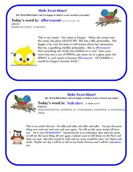 Word Bird Delivers Vocabulary for 3-5th Grade!