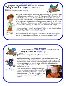 Word Bird Delivers Vocabulary for 6-8th Grade!
