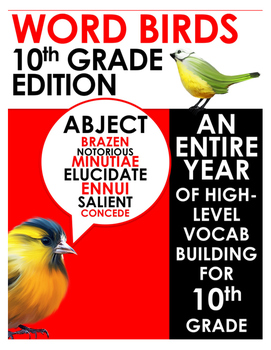 Word Birds Word of the Week 10th Grade High-Level Vocabulary Builder:40 Lessons!