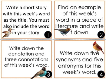 Word Birds Word of the Week 6th-8th Grade Vocabulary Builder Bundle:120 Lessons!