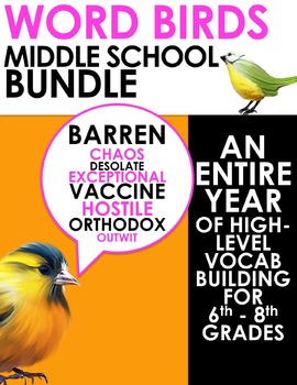 Word Birds Word of the Week 6th-8th Grade Vocabulary Build