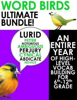 Word Birds Word of the Week Vocabulary Builder: 6th-12th G