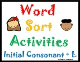 Word Sorts-Blends With Initial Consonant and L