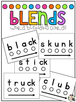 Word Blending Cards: Blends