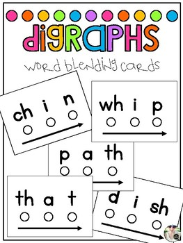 Word Blending Cards: Digraphs