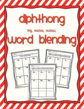 Word Blending - diphthongs ing, ew/oo, ou/ow