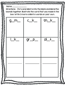 Word Blending - long vowels (a, e, i, o, u)