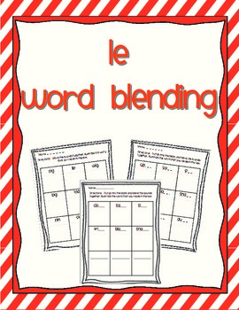 Word Blending - syllable le