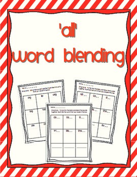Word Blending - variant vowel all