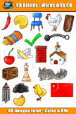 Word Blends: CH Digraph Blends Clipart - Personal or Comme