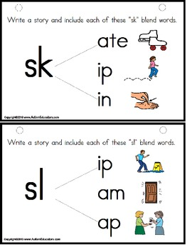 Word Blends - Reading and Writing with Pictures for Visual Learners