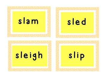 Word Blends Word Work