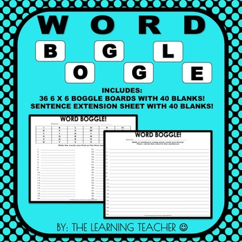 Word Boggle (36 6 x 6 Sheets)