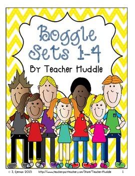 Word Boggle Bundle Sets 1-4