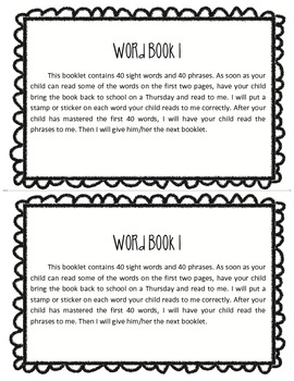 Word Book 1, Guided Reading